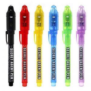 Maleden Spy Pen Stylo espion à encre invisible avec lumière UV, Pour les messages secrets des enfants, Parfait pour les pochettes surprises de la marque MALEDEN image 0 produit