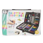 Malette de coloriage 86 pièces feutres crayons de couleurs pastels peintures à l'eau pinceau peinture ... Idéal loisirs créatifs Créateur de Génie de la marque Créateur de génie image 1 produit