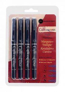 Manuscript Calligraphy Lot de 4 Feutres Noir de la marque Manuscript image 0 produit