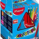 Maped 37743 Color Pep'S Coffret école 144 Crayons couleur triangulaire mine tendre résistante Lumineux sans écharde de la marque Maped image 2 produit