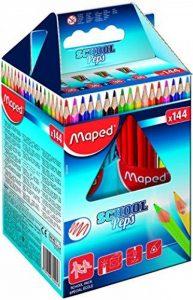 Maped 37743 Color Pep'S Coffret école 144 Crayons couleur triangulaire mine tendre résistante Lumineux sans écharde de la marque Maped image 0 produit