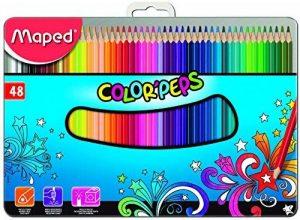 Maped Color'Peps 832059 Lot de 48 Crayons de couleur Boîte Metal de la marque Maped image 0 produit