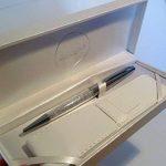 Maranda-Ti Argent Cristal Swarovski encre noire stylo à bille pour dames - Léger Stylo 22g - Silver Case 18 x 8 cm - Luxe Argent Couverture de la marque Maranda Ti image 2 produit