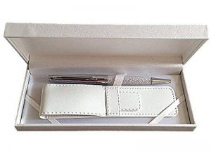 Maranda-Ti Argent Cristal Swarovski encre noire stylo à bille pour dames - Léger Stylo 22g - Silver Case 18 x 8 cm - Luxe Argent Couverture de la marque Maranda Ti image 0 produit