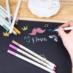 Marqueur Métallique Pens, Rymall [12 Couleurs] Utilisation sur Papier Verre Plastique Poterie Bois Roche Métal, pour Album Photo Carte DIY Graffiti , Dessin de la marque Rymall image 1 produit