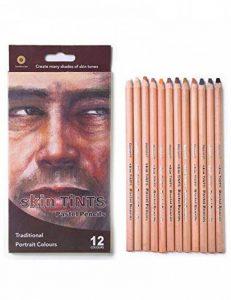 Meeden 12Couleur Professional Skin teintes pastels Crayons de couleur pour le dessin d'école Lapices de Coloures papeterie, Pack of 1 de la marque MEEDEN image 0 produit