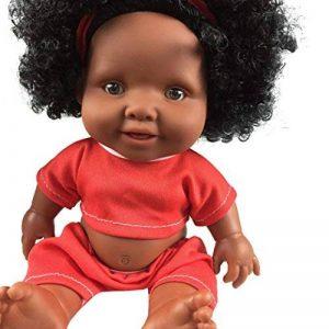 Momola Bébé jouet de poupée africain de jouet de poupée noire (Rouge (10 pouces)) de la marque Momola image 0 produit