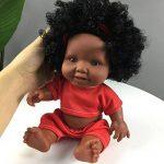 Momola Bébé jouet de poupée africain de jouet de poupée noire (Rouge (10 pouces)) de la marque Momola image 1 produit