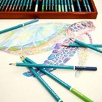 MONT MARTE Crayons de Couleur Aquarellables Premium Deluxe - 72 pièces de Crayons Aquarellables dans une boîte en bois - Idéal pour les dessins colorés - Parfait pour les débutants, les professionnels de la marque Mont Marte image 3 produit