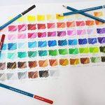 MONT MARTE Crayons de Couleur Aquarellables Premium Deluxe - 72 pièces de Crayons Aquarellables dans une boîte en bois - Idéal pour les dessins colorés - Parfait pour les débutants, les professionnels de la marque Mont Marte image 1 produit