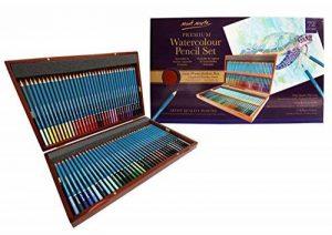 MONT MARTE Crayons de Couleur Aquarellables Premium Deluxe - 72 pièces de Crayons Aquarellables dans une boîte en bois - Idéal pour les dessins colorés - Parfait pour les débutants, les professionnels de la marque Mont Marte image 0 produit
