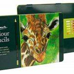 MONT MARTE Kit premium de crayons de couleur pour artistes débutants et professionnels – 36 pce dans une élégante boite en métal – idéals pour des dessins et peintures vives et colorées. de la marque MONT MARTE image 3 produit