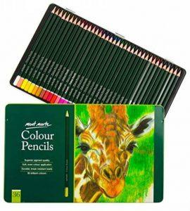 MONT MARTE Kit premium de crayons de couleur pour artistes débutants et professionnels – 36 pce dans une élégante boite en métal – idéals pour des dessins et peintures vives et colorées. de la marque MONT MARTE image 0 produit