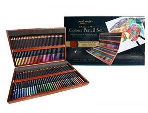 MONT MARTE Set de Crayons de Couleur Premium Deluxe - 72 pièces de crayons de couleur dans une boîte en bois - Idéal pour les dessins colorés - Parfait comme cadeau pour les Débutants, Professionnels de la marque Mont Marte image 0 produit