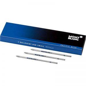 Montblanc 105149 Recharge pour Stylo Bille Montblanc - 3x Pacific Blue - Bleu - Meisterstück Mozart & Augmented Paper - Petit Modèle de la marque Montblanc image 0 produit