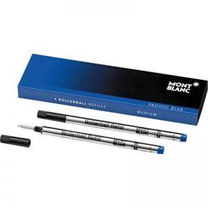 Montblanc 105159 Recharge pour Stylo Rollerball Montblanc - 2x Pacific Blue - Bleu - M - Taille Medium de la marque Montblanc image 0 produit