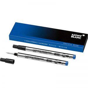 Montblanc 105165 Recharge pour Stylo Rollerball Montblanc - 2x Pacific Blue - Bleu - Meisterstück LeGrand - M - Taille Medium de la marque Montblanc image 0 produit