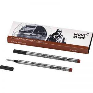 MONTBLANC 2 REFILL ROLLER (M) ANTOINE DE SAINT-EXUPERY ROSSO SCURO 116275 de la marque Montblanc image 0 produit