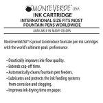 Monteverde Cartouche Taille Internationale pour Stylos à Plume - Rouge (Lot de 6) de la marque Monteverde image 5 produit