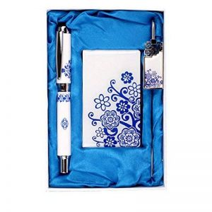 Motif Flora Business Card Holder de Bookmark and Rollerball Pen Gift Set de la marque Blancho image 0 produit