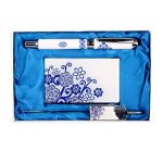 Motif Flora Business Card Holder de Bookmark and Rollerball Pen Gift Set de la marque Blancho image 1 produit