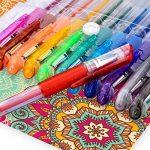 Mudder Lot de stylos gel paillettes pour coloriage livre, concevoir, colorier, scarabocchiare et abbozzare, de la marque Mudder image 2 produit