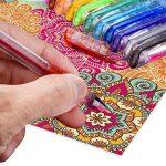 Mudder Lot de stylos gel paillettes pour coloriage livre, concevoir, colorier, scarabocchiare et abbozzare, de la marque Mudder image 3 produit