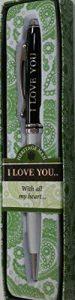 Mulberry Sterling Effectz Stylo personnalisé avec l'inscription «I love you» livré dans une boîte cadeau [en langue étrangère] de la marque Mulberry image 0 produit