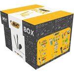 My BIC Box Boîte de 124 Produits d'Ecriture - 75 Stlyos-Bille, 24 Porte-Mines, 8 Rubans Correcteurs, 7 Marqueurs, 8 Surligneurs Fluo et 2 Bâtons de Colle Blanche (21gr) de la marque BIC image 1 produit
