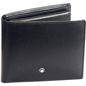Neuf Montblanc Meisterstuck véritable Portefeuille en cuir noir 10cc 05524 de la marque Montblanc image 0 produit