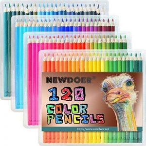 Newdoer 120ultime de crayons de couleur, la meilleure Crayons de couleur pour artistes, bande dessinée, Illustration, design d'intérieur, étudiant, l'art et les amateurs de coloriage pour adultes comme cadeau de Noël 120 Pencils de la marque Newdoer image 0 produit