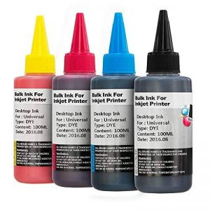 Non-OEM Universal Pigment and Dye Based Printer Ink Bottles for CISS or Refillable Cartridges 100ml B,C,M,Y *** Priced To Clear *** de la marque 7dayshop image 0 produit