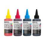 Non-OEM Universal Pigment and Dye Based Printer Ink Bottles for CISS or Refillable Cartridges 100ml B,C,M,Y *** Priced To Clear *** de la marque 7dayshop image 1 produit