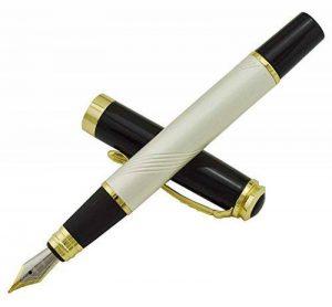 nouveau de nacre fontaine art de stylo capuchon noir style de poussée de la marque Erofa image 0 produit