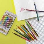 NPW Get Emojinal Boîte de 12 crayons de couleur bicolores avec émoticônes 24 couleurs assorties 50/50 par Get Emojinal de la marque NPW image 1 produit
