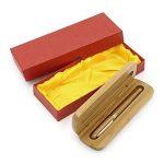 NUOLUX Moyen plume stylo plume bambou naturel écrit Pen avec convertisseur et étui (Red emballé) de la marque NUOLUX image 3 produit