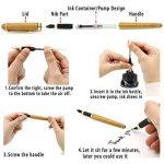 NUOLUX Moyen plume stylo plume bambou naturel écrit Pen avec convertisseur et étui (Red emballé) de la marque NUOLUX image 5 produit