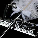 NUOLUX Plume blanche signature stylo avec Love métal titulaire mariage Pen Set (Silver) de la marque NUOLUX image 2 produit