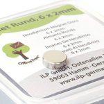 OfficeTree® 20 Mini aimants au néodyme pour disques magnétiques OfficeTree® 20 6x2 mm ronds - puissance de maintien extra forte sur les surfaces métalliques du réfrigérateur à tableau blanc en verre aimant à panneau d'affichage - qualité supérieure de la image 2 produit