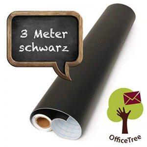 OfficeTree ® film tableau noir rouleau 300 cm - autoadhésif - 43 cm de large - ardoise - écrire dessiner peindre souligner à la craie - (1 rouleau) de la marque Office Tree image 0 produit