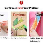ommda Étui lavable Crayon couleur cire fois Craie Eau Avec la rotation Design 6différentes couleurs naturelle, non toxique, sans danger pour les bébés, et les enfants de la marque Ommda image 2 produit