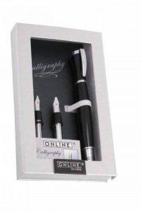 Online Tango Stylo plume avec 3 Taille des blocs calligraphie échangeable 0,8 mm/1,4 mm/1,8 mm Noir de la marque Online image 0 produit