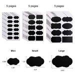 ONUPGO Étiquettes pour tableau noir - 150 étiquettes de tableau réutilisables de qualité supérieure avec 2 marqueurs de craie effaçables pour décorer votre garde-manger et bureau, Mini étiquettes réutilisables pour bocaux à épices, flacons de pulvérisatio image 3 produit