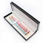 Or Rose Lot de stylos par Creoly | Rose et bleu Premium stylos à bille dans un coffret cadeau, Noir d'encre de la marque Creoly image 1 produit