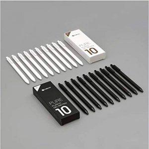 Original Xiaomi Mi Pen kaco shuyuan Lot de 6recharges de stylo gel Noir/blanc 0,5mm ABS Plastique Stylo bille Lot de 10 noir de la marque image 0 produit