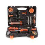 Outad 45 Pcs Kit Coffret d'outils ,Home Repair Tool Kit, Kit Outils de Main multifonction et universel Mallette à outils Boîte à Outils pour jardin Maison réparation Maintenance de la marque OUTAD image 3 produit