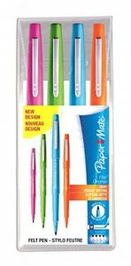 PaperMate Flair stylo-feutre, pointe moyenne 1,1mm, couleurs fun, pochette de4 de la marque Papermate image 0 produit