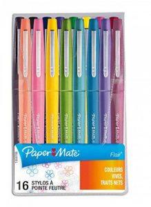 PaperMate Flair stylo-feutre, pointe moyenne 1,1mm, couleurs Tropical, pochette de16 de la marque Papermate image 0 produit