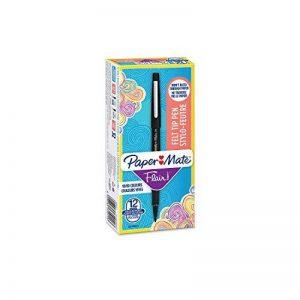 PaperMate Flair stylo-feutre, pointe moyenne 1,1mm, encre noire, boîte de 12 de la marque Papermate image 0 produit