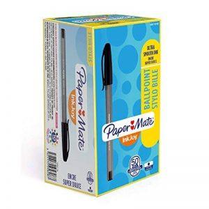Paper Mate InkJoy 100 Cap Stylo Bille Pointe Moyenne Noir Lot de 50 de la marque Papermate image 0 produit